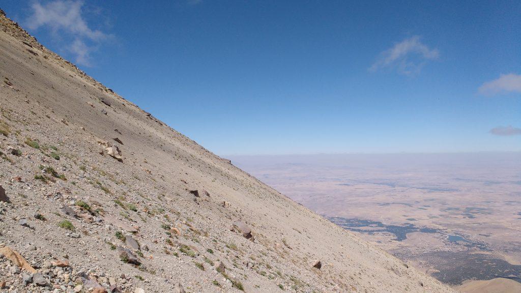 Pente sur le Mont Hasan