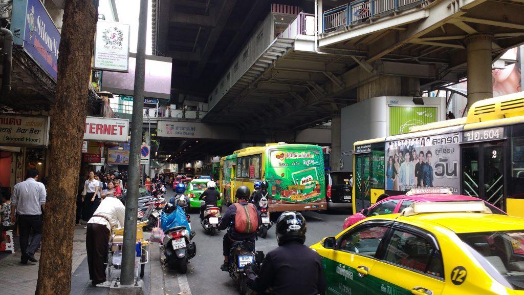 Dans le centre de Bangkok