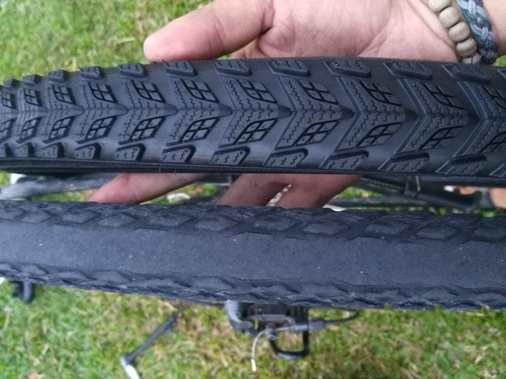Il était temps de remplacer les pneus